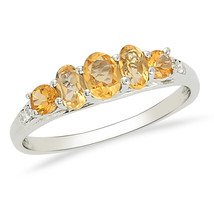 Party Wear Shine Silver 925 Sterling Citrine Gemstone Jewelry Ring US 8 ... - $30.47