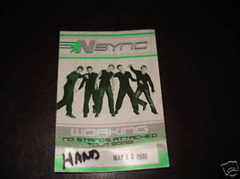 N Sync 2000 Justin Tour Backstage Concert  Pass - $9.99