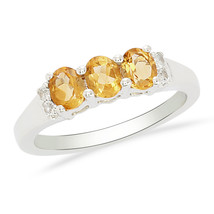 Gorgeous Natural Citrine 925 Sterling Silver Jewelry Ring US 8 SHRI0184 - £13.53 GBP