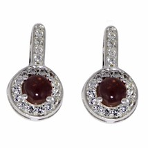 Pink Tourmaline With White Topaz Jewelry 925 Sterling Silver Earring Sher0158 - $20.68