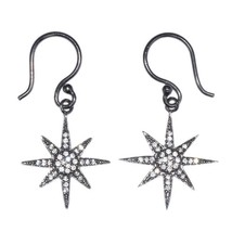 Sun Star Shine Cubic Zirconia Solid 925 Sterling Silver Jewelry Earring SHER0097 - $9.49
