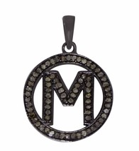 Alphabet  Initial Letter M Diamond Pendant 925 Sterling Silver Jewelry SHPN0314 - $109.49