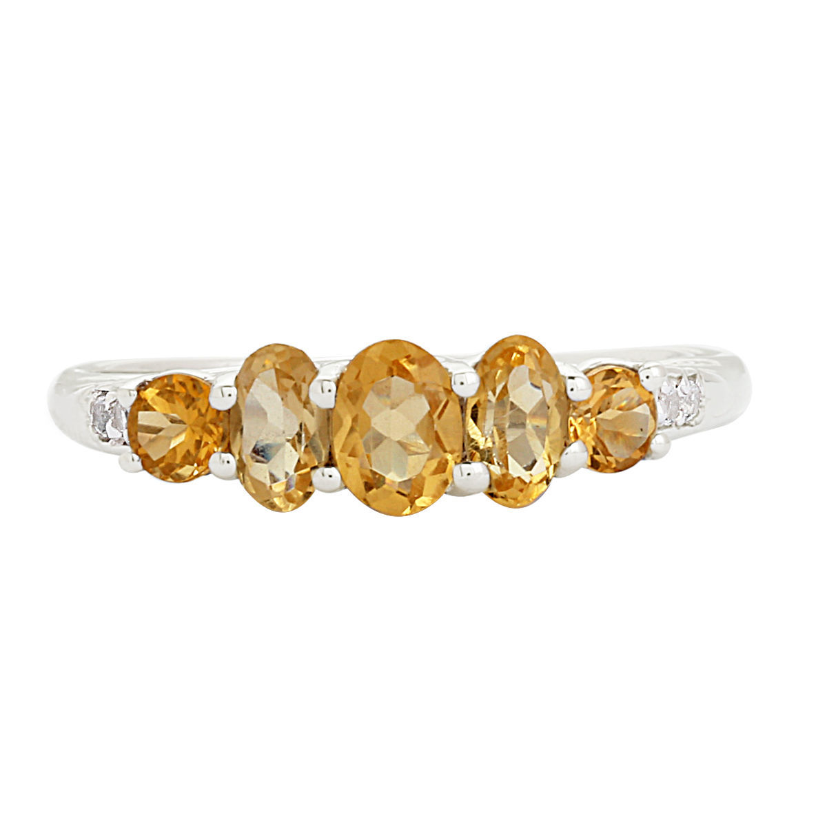 Party Wear Shine Silver 925 Sterling Citrine Gemstone Jewelry Ring US 8 SHRI0168
