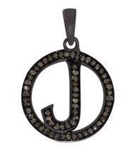 J Initial Letter Alphabet Diamond Pendant 925 Sterling Silver Jewelry SHPN0312 - $90.15