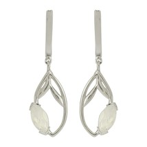 New Designer 925 Sterling Silver Rainbow Moonstone Jewelry Hook Earring SHER0020 - $21.46