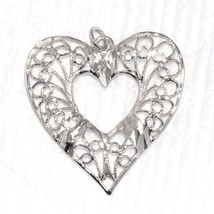 Lovely 925 Solid Sterling Silver Filigree Heart Designer Jewelry Pendant SHPN093 - $9.16