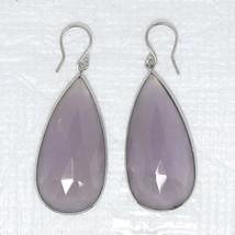 Fabulous 925 Sterling Silver Huge Rose Quartz Gemstone Earring Jewelry SHER0059 - $15.85