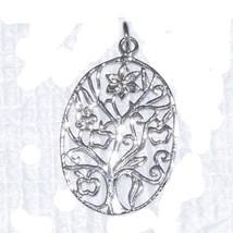 Shine Jewel 925 Solid Sterling Silver Filigree Designer Jewelry Pendant SHPN0096 - $8.31