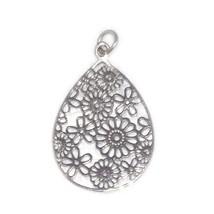 Fabulous !  925 Solid Sterling Silver Filigree Designer Pendant Jewelry SHPN0092 - $6.87