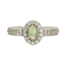 White Topaz n Tourmaline Solid 925 Sterling Silver Jewelry Ring Size 7 SHRI0212 - $23.41