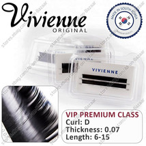 NEW! Vivienne Extension Artificial Eyelashes Curle D Thickness 0.07 - $16.99