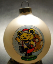 Grateful Dead Christmas Ornament Yellow Bear in Santa Suit Glass Bulb 19... - $6.99