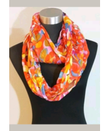 Bright Multi Color Print Layered Ladies Infininty Scarf  - $7.00