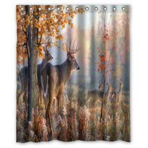 Deer #02 Shower Curtain Waterproof Made From Polyester - $29.07+