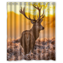 Deer #04 Shower Curtain Waterproof Made From Polyester - $29.07+