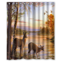 Deer #05 Shower Curtain Waterproof Made From Polyester - $29.07+