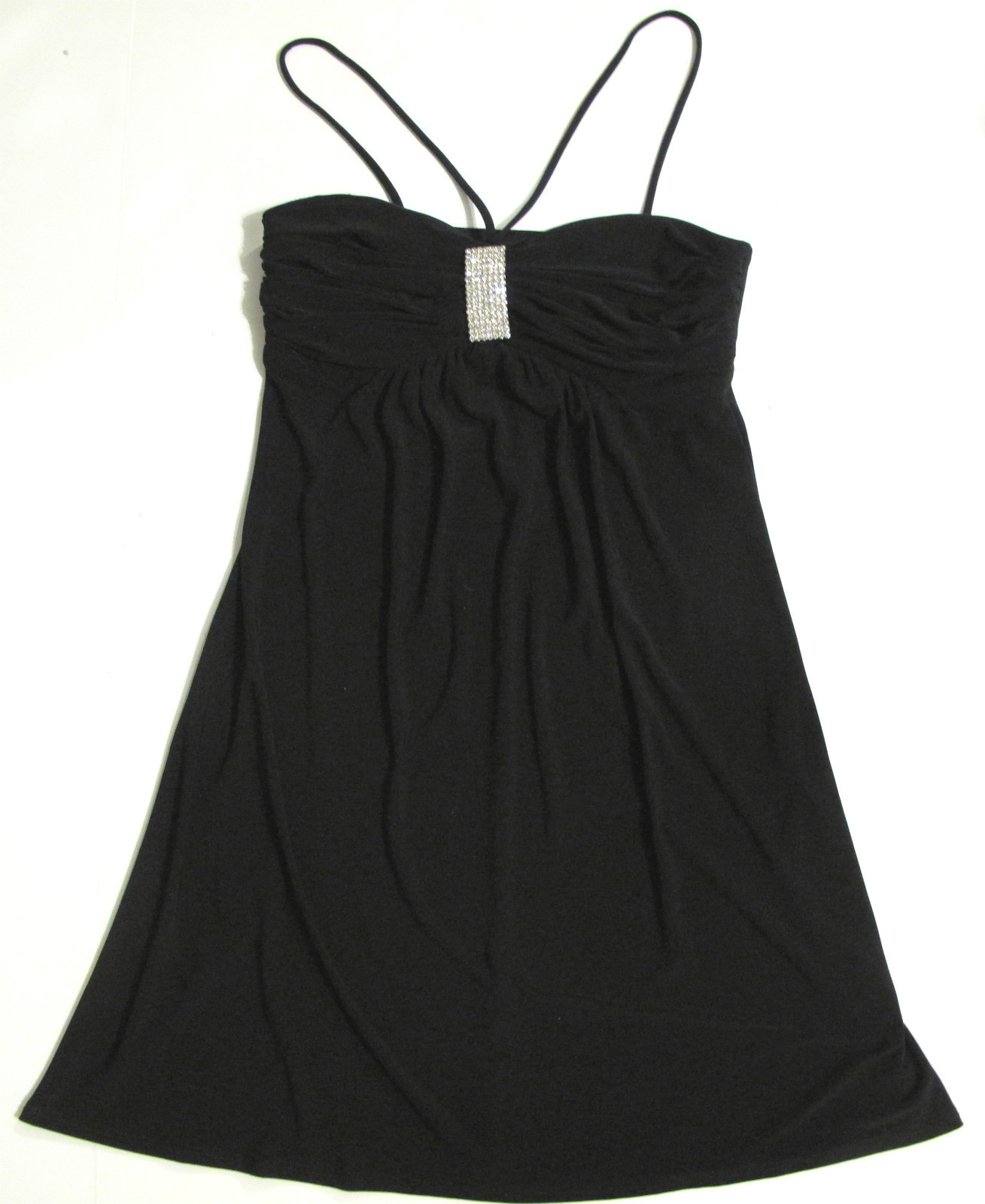 Primary image for Black Spaghetti Strap Dress B. Darlin Size 5/6