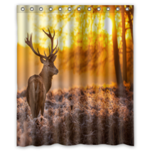 Deer #07 Shower Curtain Waterproof Made From Polyester - $29.07+