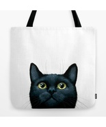 Tote Bag All over print Made in USA black Cat 6... - $29.99 - $35.99