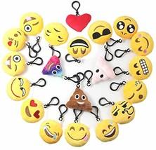 Emoji Keychains Plush Mini Pillow for Home Decoration/Kids Birthday Par... - $30.99
