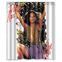 Diana Ross #01 Shower Curtain Waterproof Made From Polyester - $29.07+