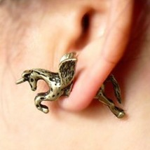 Vintage Flying Unicorn Single Earring - $5.99