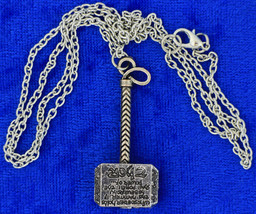 Thor's Hammer Necklace or Keychain Small Avengers Chain Style Length Choice - $4.99+