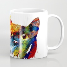 Coffee Mug Cup 11oz or 15oz Made in USA Cat 608 digital art painting L.D... - $19.99+