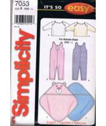 Simplicity 7053 Babies' Romper, Blanket, Pullov... - $6.00