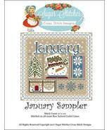 January Monthly Sampler 2017 series cross stit... - $10.00
