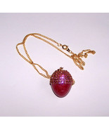 Egg Jewelry Swarovski Rose Button Quail Egg Acorn Pendant Egg Art Decora... - $20.00
