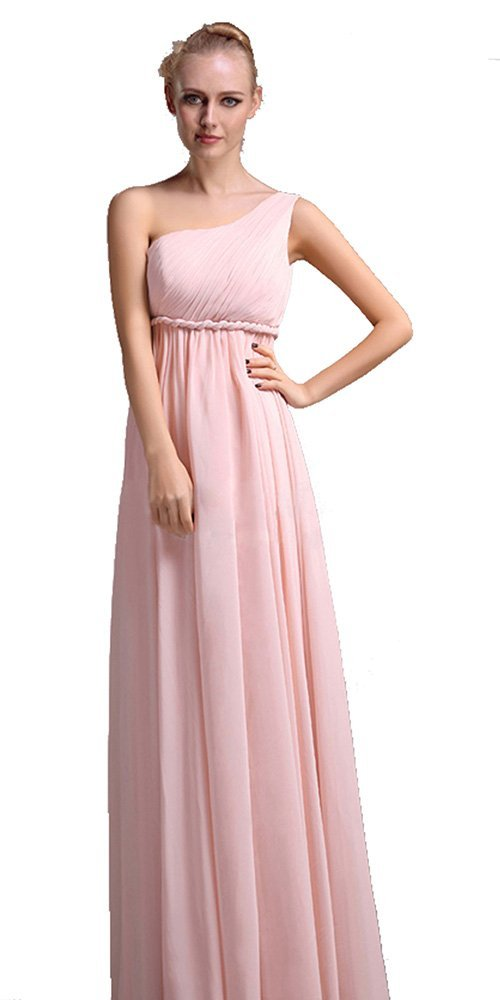 One Shoulder Grecian Prom Dresses One Shoulder Grecian G...