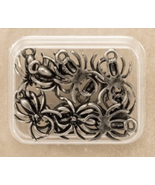 Wicked Spider Charm 10pcs antique nickel embellishment cross stitch acce... - $6.00