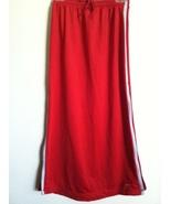 NIKE long SKIRT side zip silver red swoosh logo front RARE 4-6 drawstrin... - $34.00