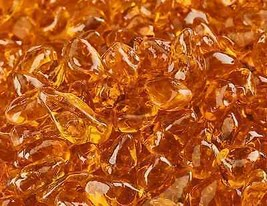 "10 Lbs of 1/4"" Fire Glass Dots Mandarin Orange Fireglass for Fire Pits F... - $41.58"
