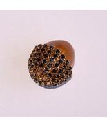 Jewelry Swarovski Black Button Quail Egg Acorn Pendant Sterling 24 Inch ... - $20.00