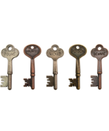 Halloween Word Keys 5pcs antique finish embelli... - $8.00