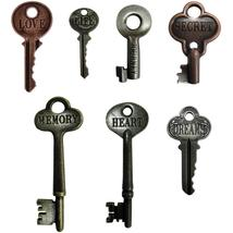 Inspiration Word Keys 7pcs antique finish embellishment cross stitch accessory   - $10.00
