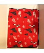 Red Christmas Holiday Theme Printed Throw Blanket - $20.37