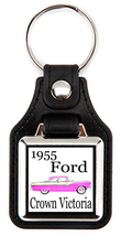 Ford Crown Victoria 1955 pink-white key fob - $7.50