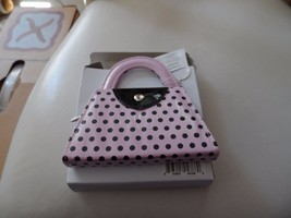 4 piece manicure set in a tiny Pink with black polka purse - $7.99