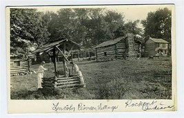 Lincoln Pioneer Village Rockport Indiana Real Photo Postcard 1930s - $34.65