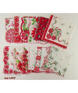 Lot of One Dozen Assorted Vintage Christmas Handkerchiefs (Inventory #CH... - $120.00
