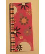 Hardcover Pink Patterned Oblong Notebook Journal - $8.81