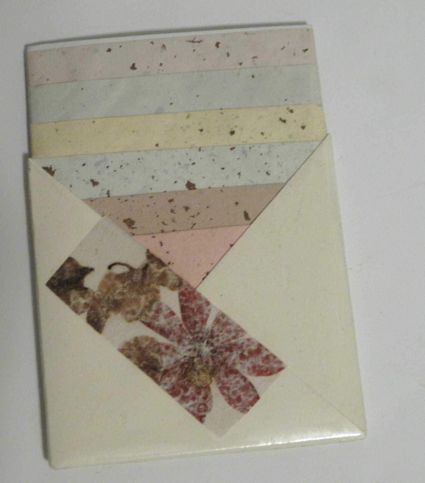 Primary image for Handmade Floral Stationery 5 x 7 in Origami Pouch