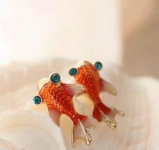 Vintage Little Goldfish Stud Earrings - $5.99