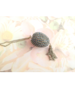 Jewelry Swarovski Montana Blue Button Quail Egg... - $20.00