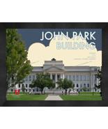 """University of Utah """"John Park Building"""" 13 x 16 Art Deco Framed Print  - $39.95"""