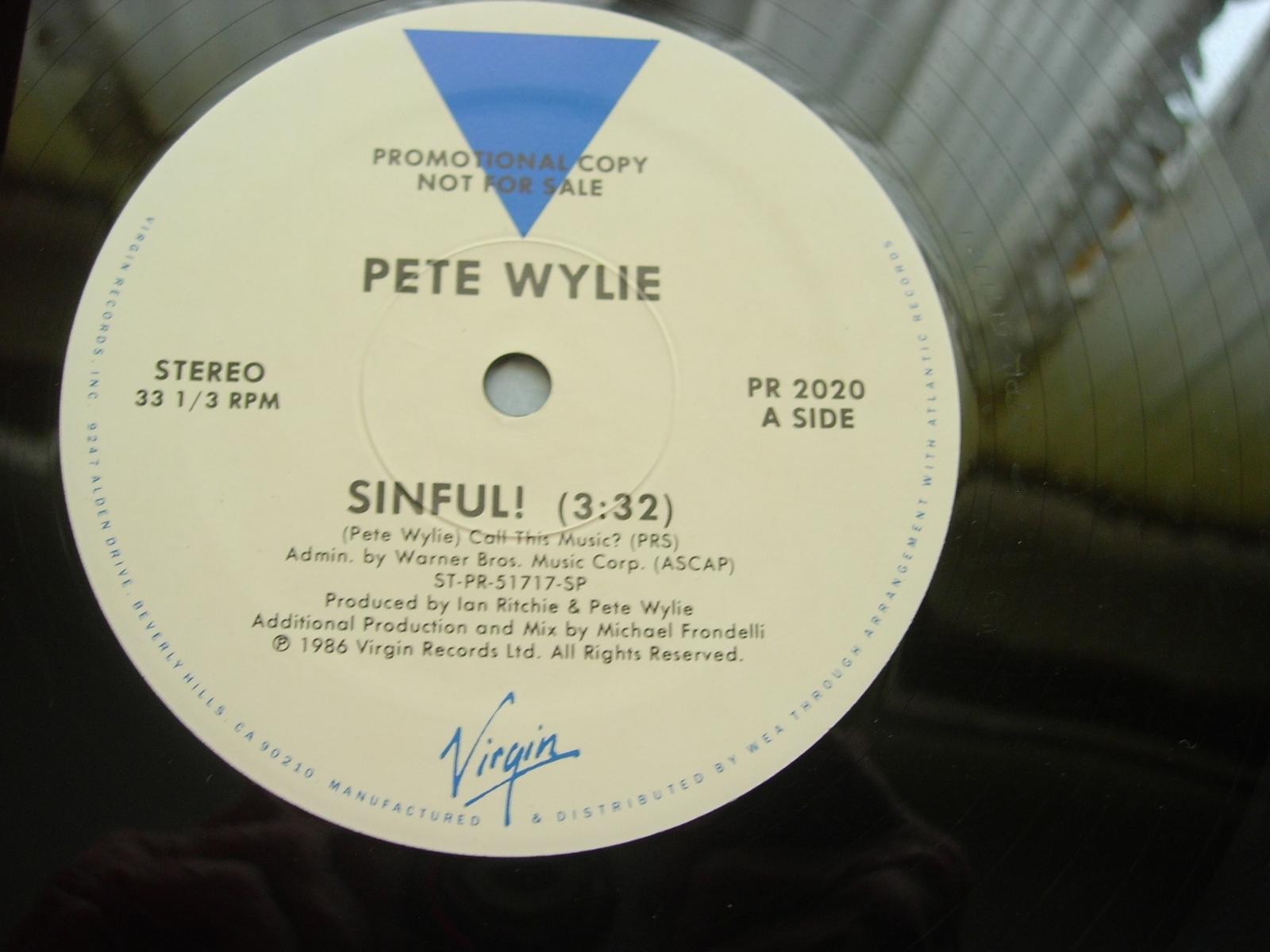 Pete Wylie - Sinful - Virgin Records PR 2020 - Promo