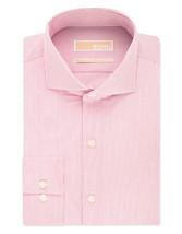 New Michael Kors Non Iron Long Sleeve Magenta Cotton Button Front Dress Shirt - $49.99